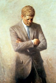 JFK's official White House portrait. This is my all time favorite presidential portrait.