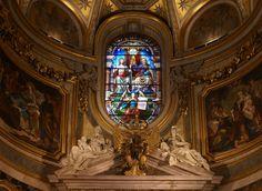 Rom, Santa Maria dell'Anima, Farbglasfenster der Apsis (stained glass window of the apse) | da HEN-Magonza