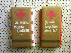 Kit de survie pour les filles ) Chocolate Packaging by Jeen Heine §Chic et Chouette