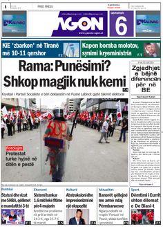 Agon (2007 - 2013), Albania (Tirana) Newspaper Cover, Albania, Free