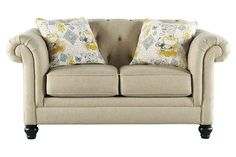 White couch loveseat is perfect for your living room furniture
