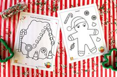 These free Gingerbread printables from Alex brands are pretty sweet! | alexbrands.com