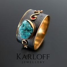 177S | Silver Ring With Turquoise, Diamonds And Rubies - product images of