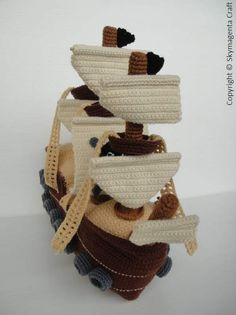 Crochet Pattern PIRATE SHIP Toys in PDF by skymagenta on Etsy, $5.99
