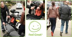 Travelling by motorbike means travelling light. Trade the hot boots for a relaxing massage in Barefooters Classics when you've reached your destination. Feeling Great, Travelling, Massage, Backpacks, Lifestyle, Boots, Classic, How To Wear, Fashion