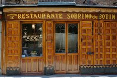 Visit Botin restaurant in Spain.  Where many famous authors ate and wrote!  I hear the foods wonderful.