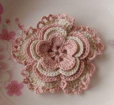 Pink n cream Crochet Flower