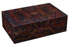 Tiger Iron Matrix Intarsia Box