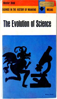 Book cover design by Milton Glaser for The Evolution of Science; 1963