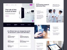 The homepage design for Labminds. Marketing Websites, Homepage Design