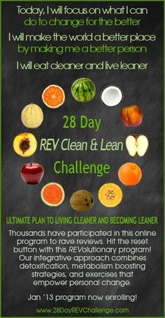 28 Day REV Clean & Lean Challenge – Group Online Detox Program and Healthy Weight Loss Program