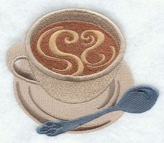Love My Coffee Machine Embroidery Designs at Embroidery Library! - Color Change - E7343