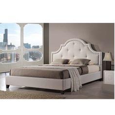 Baxton Sudio Hamlin Light Beige Linen Bed with Bench - Overstock™ Shopping - Big Discounts on Baxton Studio Bedroom Sets