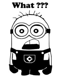 Minion What Car Truck Vinyl Decal Window by PirateVinylDecals, $3.50