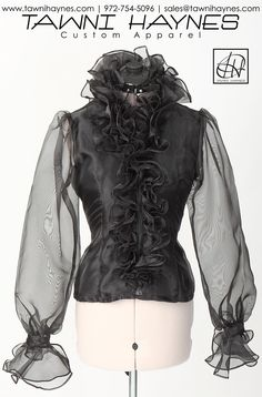 Tawni Haynes Sheer Sleeve Endless Ruffle Blouse avail in any color & any size! Order @ 972-754-5096 or http://shop.tawnihaynes.com