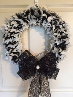 Halloween Wreath. Ghost Wreath. Handmade Wreath. Handmade Halloween Wreath. by 4SeasonsWreaths on Etsy https://www.etsy.com/listing/247737771/halloween-wreath-ghost-wreath-handmade