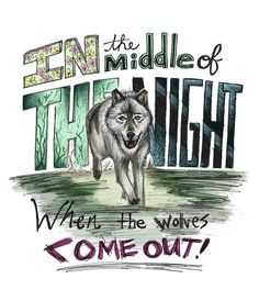 "Now playing ""Wolves"" by #OneDirection. One of my favorites from their latest album. Great vibes with this song!  I also had a lot of fun arranging this illustration and choosing the colors for it. #1D #MadeInTheAM #lyrics #wolves"