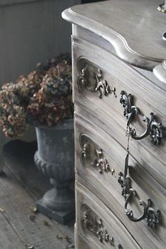 Painted Dresser Gray Grey Greige. La-madone-dresser. Corey in France
