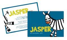 Geboortekaart Jasper - Julien et Juliette: Originele geboortekaartjes