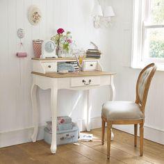 Schreibtisch Sekretär elfenbeinweiß - Léontine