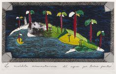 """""""LA MALDITA CIRCUNSTANCIA DEL AGUA POR TODAS PARTES"""", por Sandra Ramos. Museo Nacional de Bellas Artes, Havana, 1993."""