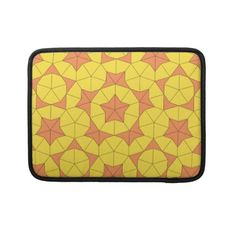 #Penrose Sun Tile 1 MacBook Sleeve- From two simple shapes, comes many different patterns.  Do you see stars and pentagons?