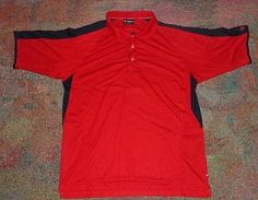 Wilson Mens Hyper Tek Large Red Polo Golf Shirt