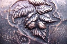 Hazel in fruit - Wall plaque (detail) by Wired & Fired, Sculpture, Copper Chasing & Repousse