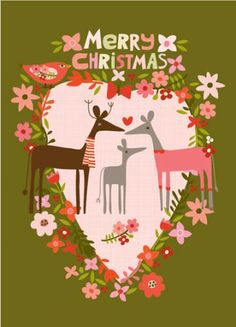 GREETING CARDS & INVITATIONS :: NEW! Merry Christmas Deer - Ecojot - eco savvy paper products