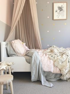 Sweet girl's bedroom and decor