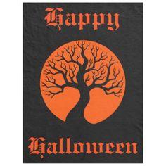 happy Halloween Fleece Blanket - home decor design art diy cyo custom