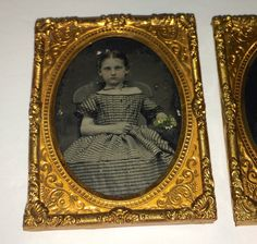 Small Antique Victorian Ambrotypes Lot Two Girls Gentleman Flowers Candy | eBay
