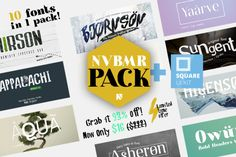 93% OFF - 10 Fonts pack + UI Kit by Newface Co. on @creativemarket