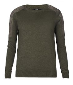 Womens Sierre Sweater (Milita/Moss Suede) | ALLSAINTS.com