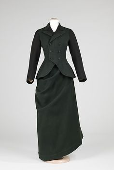 Riding Habit  Date: ca. 1910 Culture: American Medium: wool, silk