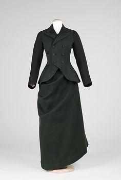 Riding Habit  Date: ca. 1910 Culture: American Medium: wool, silk