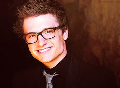 "he looks kinda weird (but still cute) with glasses.. like a young Carl Fredricksen from ""Up"" haha :)"