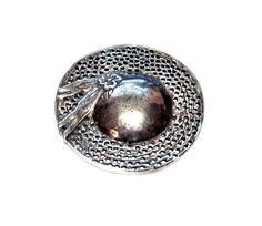 Cute Silver Metal Hat Brooch / Pin