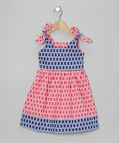 Take a look at this Fuchsia & Navy Circle Dress - Toddler & Girls by Bellinni by Bebe Bella Designs on #zulily today!