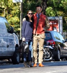 Olivia Palermo with Johannes Huebl in New York.