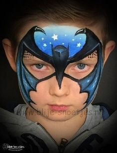 When you think about face painting designs, you probably think about simple kids face painting designs. Many people do not realize that face painting designs go Batman Face Paint, Superhero Face Painting, Face Painting For Boys, Face Painting Designs, Belly Painting, Painting Tattoo, What Is Makeup, Animal Face Paintings, Kids Makeup