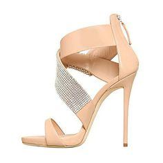 Peep Toe High Heel Gladiator Sandals