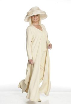 ... are here: Joyce Young > Mother of the Bride > 3 piece Trouser Outfit