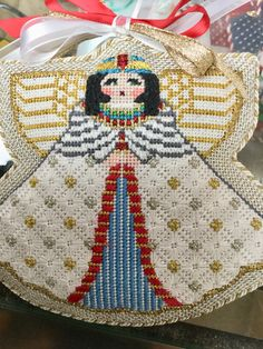 Painted Pony Cleopatera Angel needlepoint stitched by Holly!