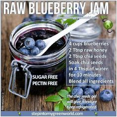Healthy Homemade Blueberry Jam Recipe- and boy is it ever delicious! ~ Budget101