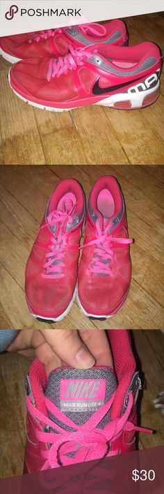 Nike air max Nike AirMax red with pink Nike Shoes Athletic Shoes