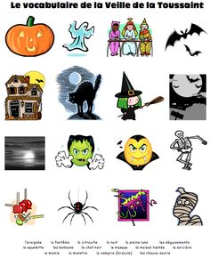 1000 images about french halloween on pinterest vocabulary word walls halloween and french. Black Bedroom Furniture Sets. Home Design Ideas