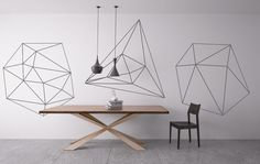 Geometric Outlines Mid Century Modern Wall by homeartstickers