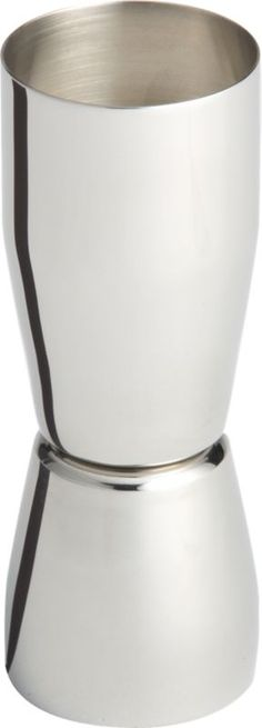 stainless steel jigger in bar accessories | CB2