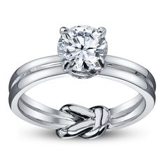 A. Jaffe 14K White Gold Diamond Engagement Ring Setting. Very unique!.. I like the knot!